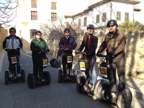 Segway Station Tour Experience: Jerri and Colin Hoyle are last 2 on right!