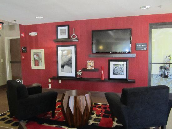 Hampton Inn Ft. Myers - Airport I-75 : Our new Library Wall with a 42flat screen TV