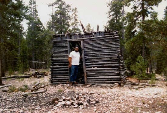 Devil's Head Fire Lookout: abandoned shed (dwelling?) at quartz quarry