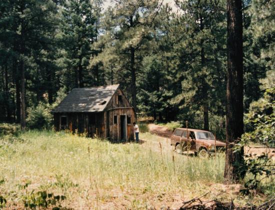 Devil's Head Fire Lookout: abandoned cabin