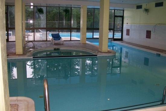 Indoor/outdoor pool at Silver Creek Lodge