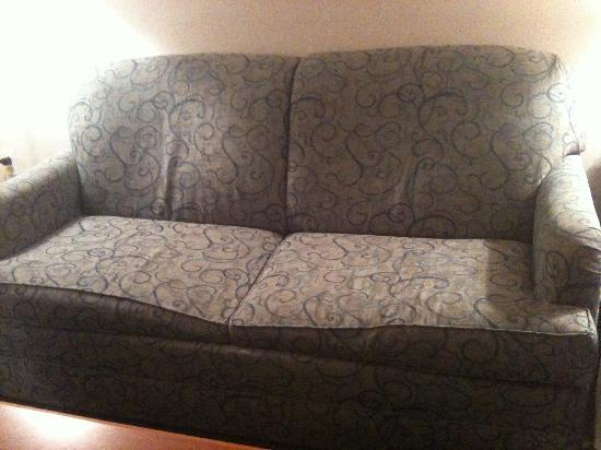 Embassy Suites by Hilton Cleveland Rockside: Qaulity, comfortable sofa?  I THINK NOT!