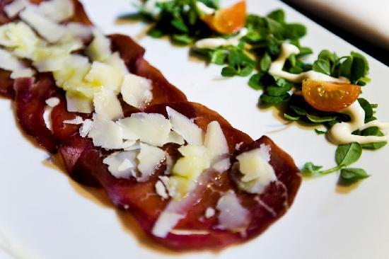 Proud Cabaret Camden: Beef Bresaola, Truffle Mayonaise and Aged Parmesan - Starter