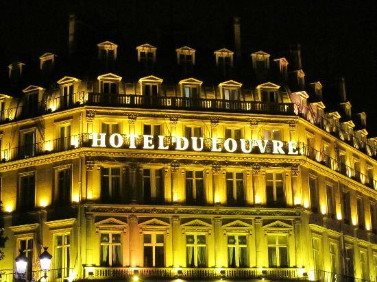 Hotel At Night Picture Of Hotel Du Louvre Paris