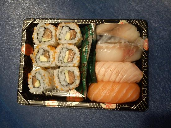 Edo Sushi Takeaway: A Typical Edo Sushi box with contents that change each month