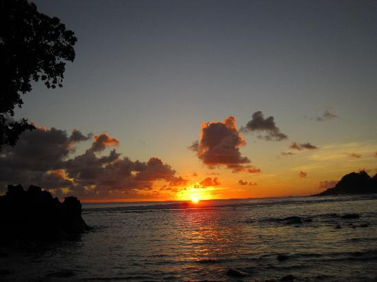 Pago Pago, American Samoa: Sunset from Sadies