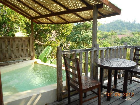 Aana Resort U0026 Spa: Our Patio With Jacuzzi Overlooking At The  Mountains/jungle