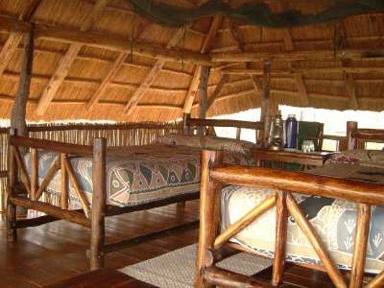 Room interiors at Rhino Safari Camp