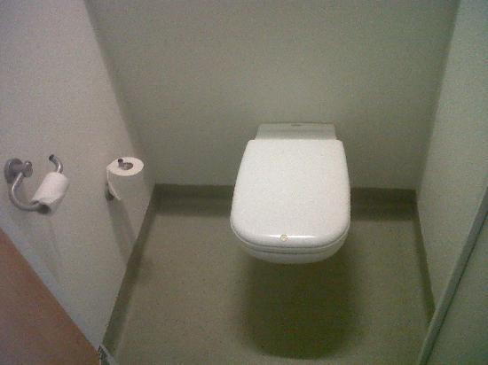Ibis Budget Madrid Vallecas: Inodoro dentro de la habitación, en cubículo cerrado que es incómodo.