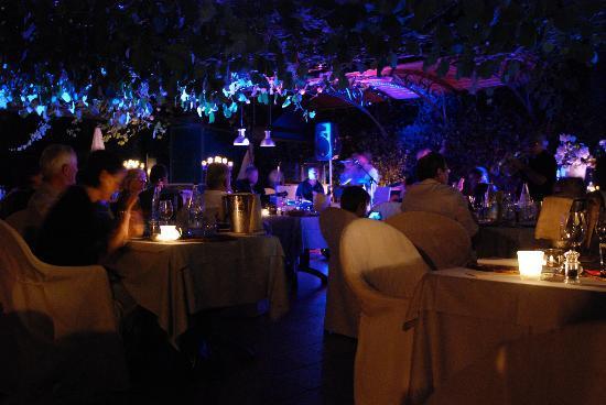 Hotel Camin Colmegna: Dinner on the lakeside terrace