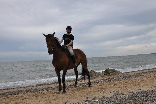 Kiltennel House : Me on horseback on the beach at Kiltennel