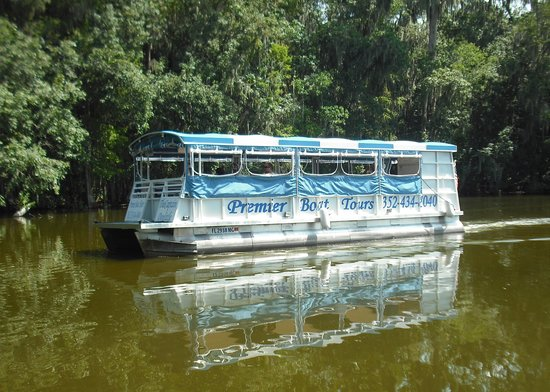 Mount Dora, Floride : Our Luxury all-weather pontoon tour boat