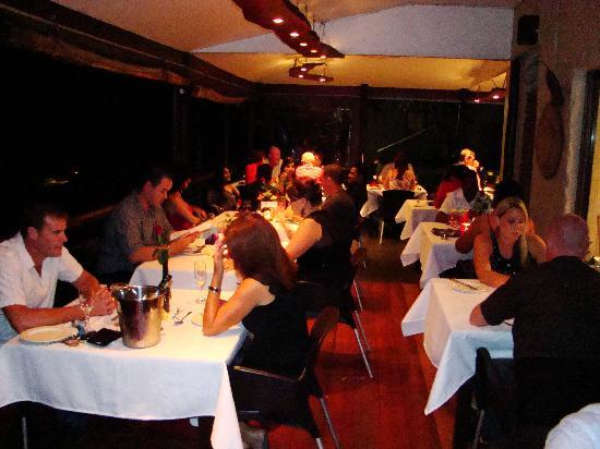 African Peninsula Guest House: Dinner on our Restaurant deck