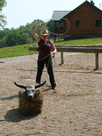 KD Guest Ranch: Roping Practice