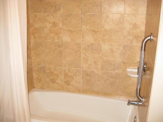 Comfort Suites Valdosta : Tiled shower