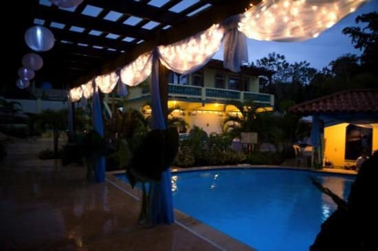 Villa Playa Maria: Our wedding deco. Fireworks too!!