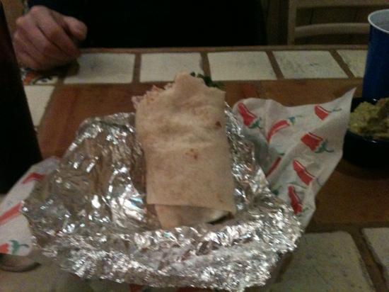 Teocalli Tamale: my burrito!