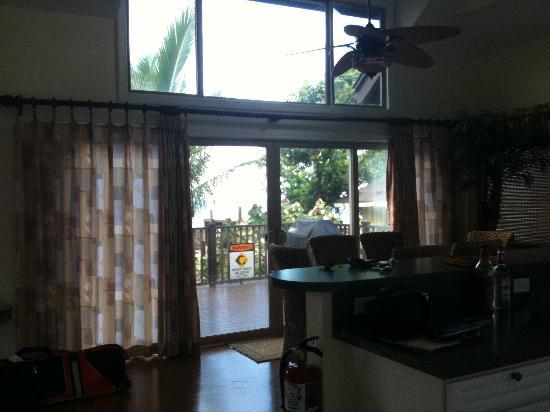 Tropical Waters: View of the living and dining area