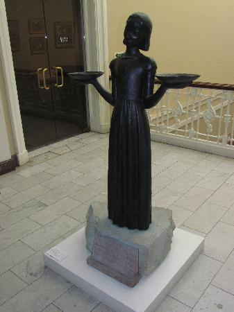 Telfair Museums Telfair Academy: original Bird Girl statue in the Telfair Museum