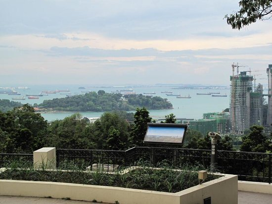 Mount Faber : view of the waterfront and the city skyline