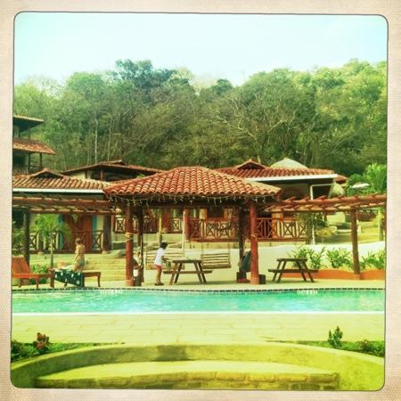 Casa Maderas Ecolodge: the pool and dorms
