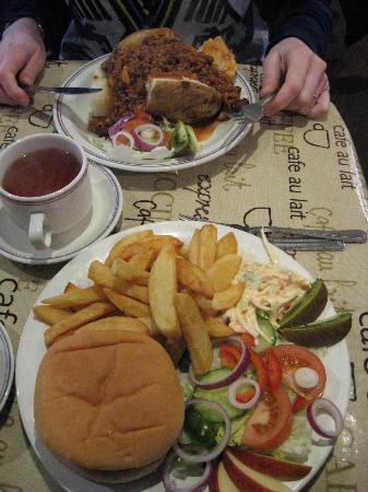 The Union Jack: Burger and jacked potato