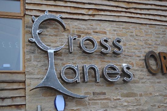 Cross Lanes Organic Farm: Cross Lanes Sign