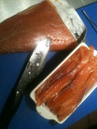 North Wheddon Farm Restaurant: Home made smoked salmon