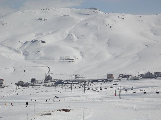 Mount Erciyes: view from the ski run