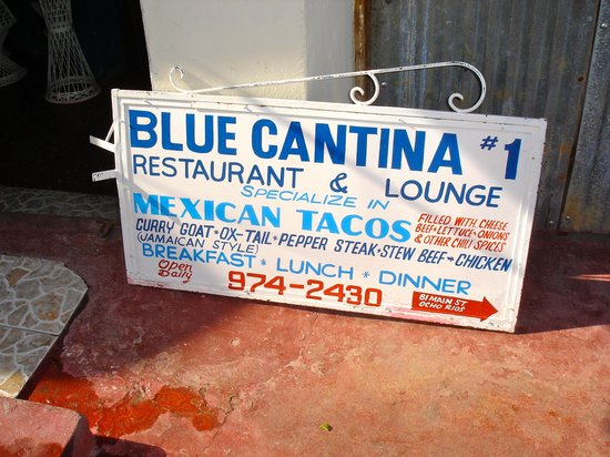 Blue Cantina Restaurant and Lounge : Blue Cantina sign