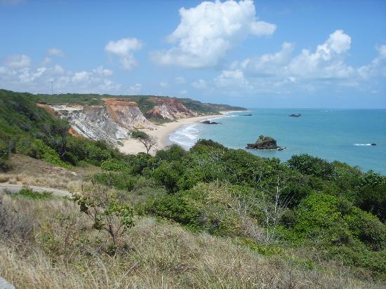 Praia de Tambaba: falesias