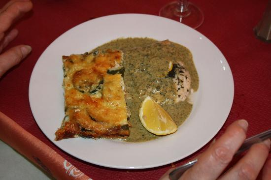 Hotel L'escapade: saumon et sa sauce au basilic