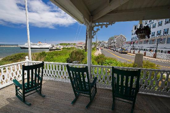 Rocking Chairs on Main Street, Block Island.