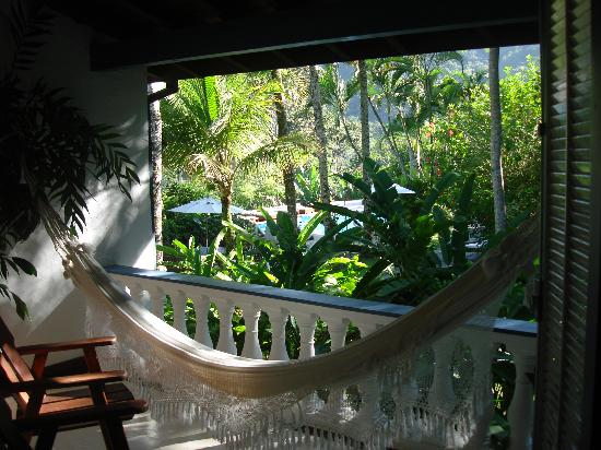 Pousada Picinguaba: View of our balcony in room 7