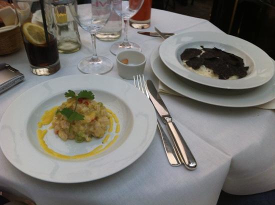 Costes : fish tarta and trifle rosito