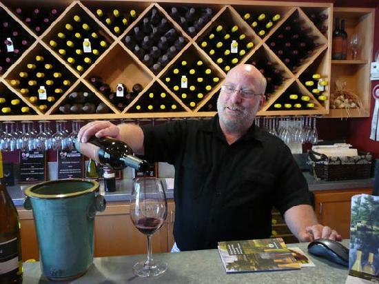 McFadden Farm Stand & Tasting Room: Tasting Room Manager John Cesano