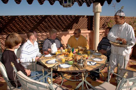 Riad Habib: La terrasse pour manger avec une vue superbe