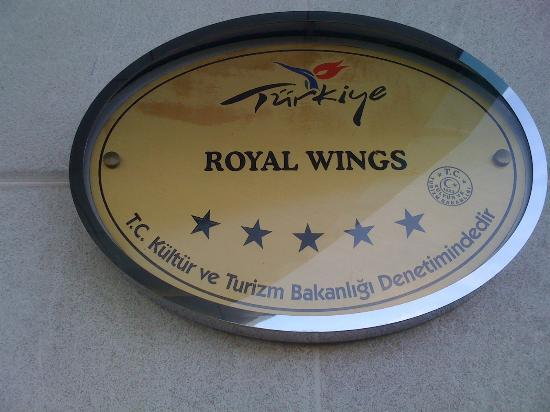 Royal Wings Hotel : Picture taken outside :-)