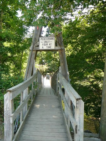 Dark Island Swinging Bridge