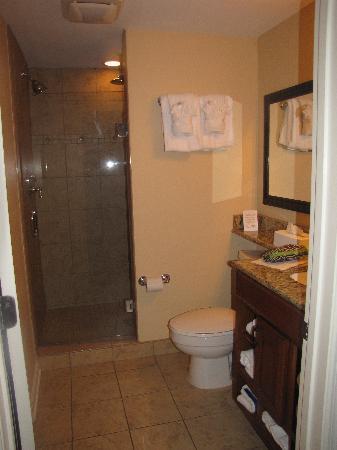 Westgate Myrtle Beach Oceanfront Resort: The bathroom... The shower is huge!!
