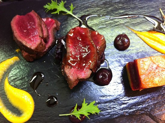 One Pico: Venison with liquorice poivrade, black cherry, root vegetable