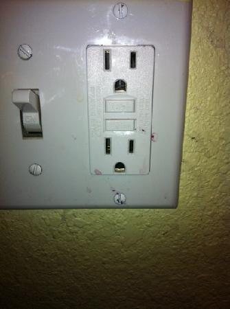 Hyatt Regency Tulsa: Don't want to even think of what this may be on bathroom switch?!?!