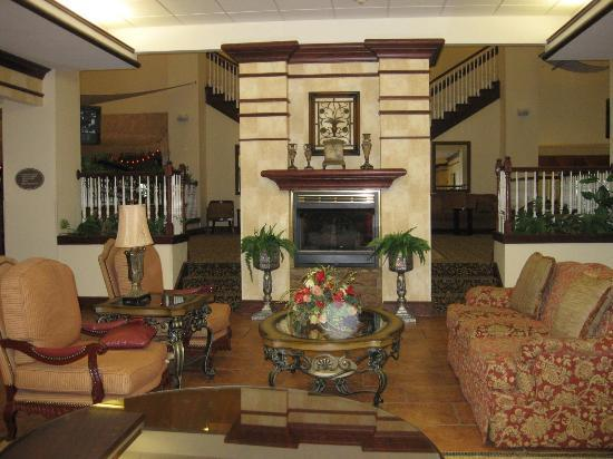 Holiday Inn Hotel & Suites Lake City : Lobby Fireplace