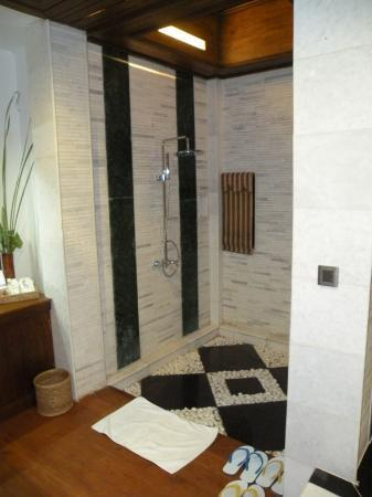 Aureum Palace Resort & Spa Inle : Shower area (Shower or bath - Choose carefully - Not enough water for both