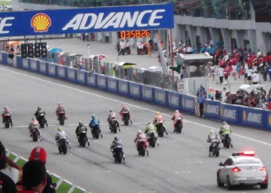 Sepang, Malasia: Start grid MotoGP