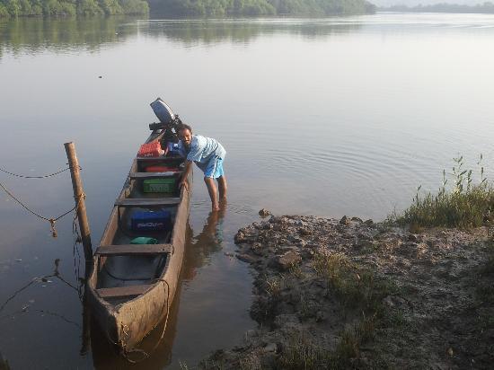 Salim Ali Bird Sanctuary: Uday & his boat