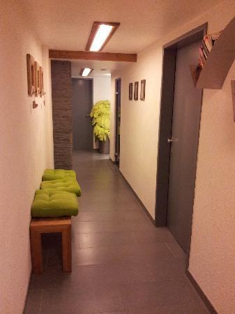 Hotel Casada: Eingang zur Sauna