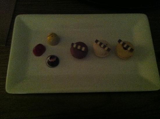 Trump SoHo New York: macaroons in the room for us