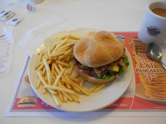 Steak 'n Shake : Hamburguesa con patatas