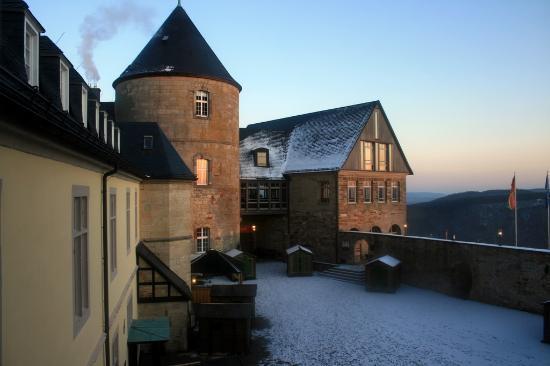 Hotel Schloss Waldeck: the castle courtyard
